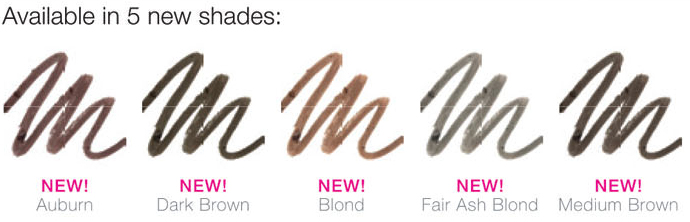 eyebrow swatches