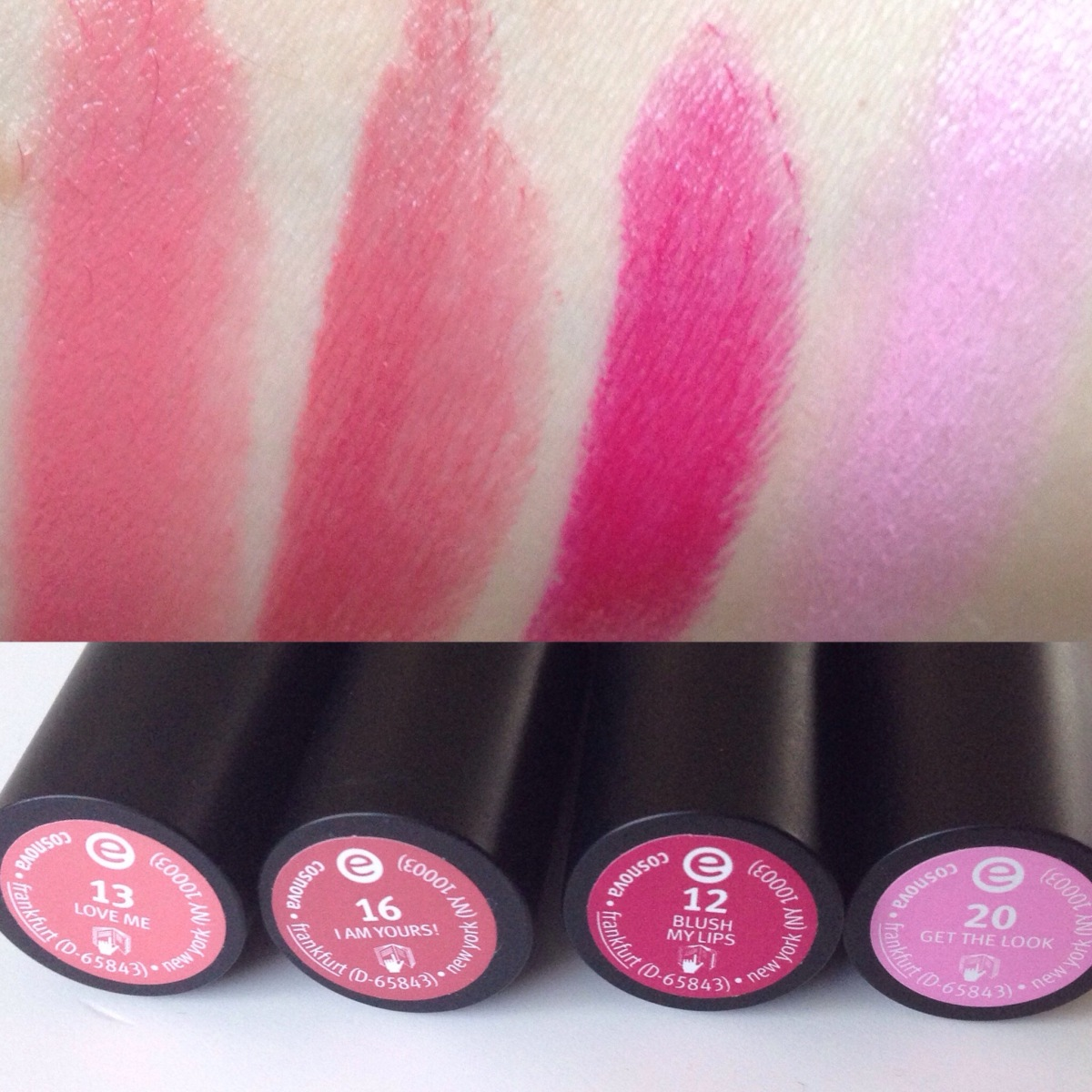 Essence Cosmetics Lipsticks- Review and Swatches