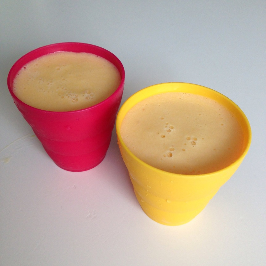 Back to School Pineapple Peach Smoothie