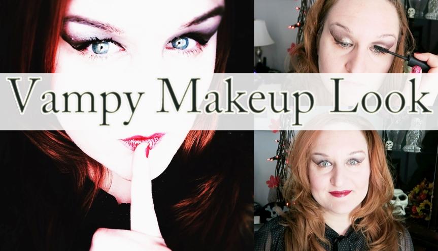 Vampy Makeup Look