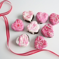 Valentine's Day Heart Brownies