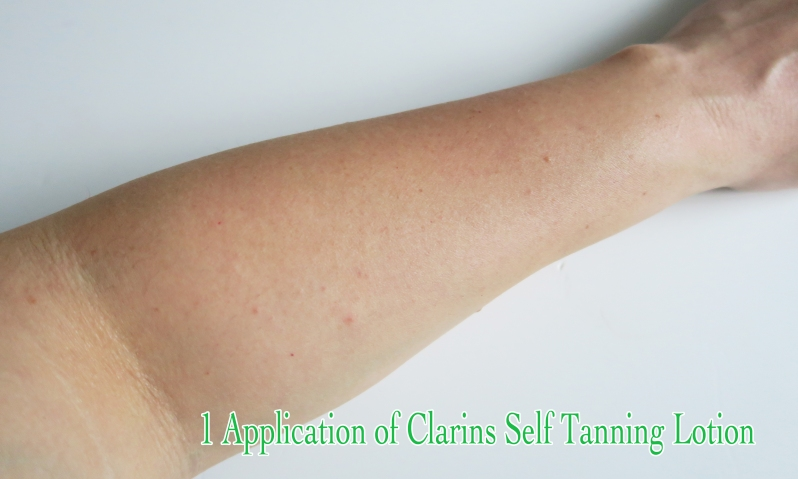 1 application of clarins 4557