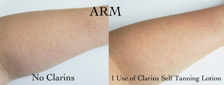 clarins before and after