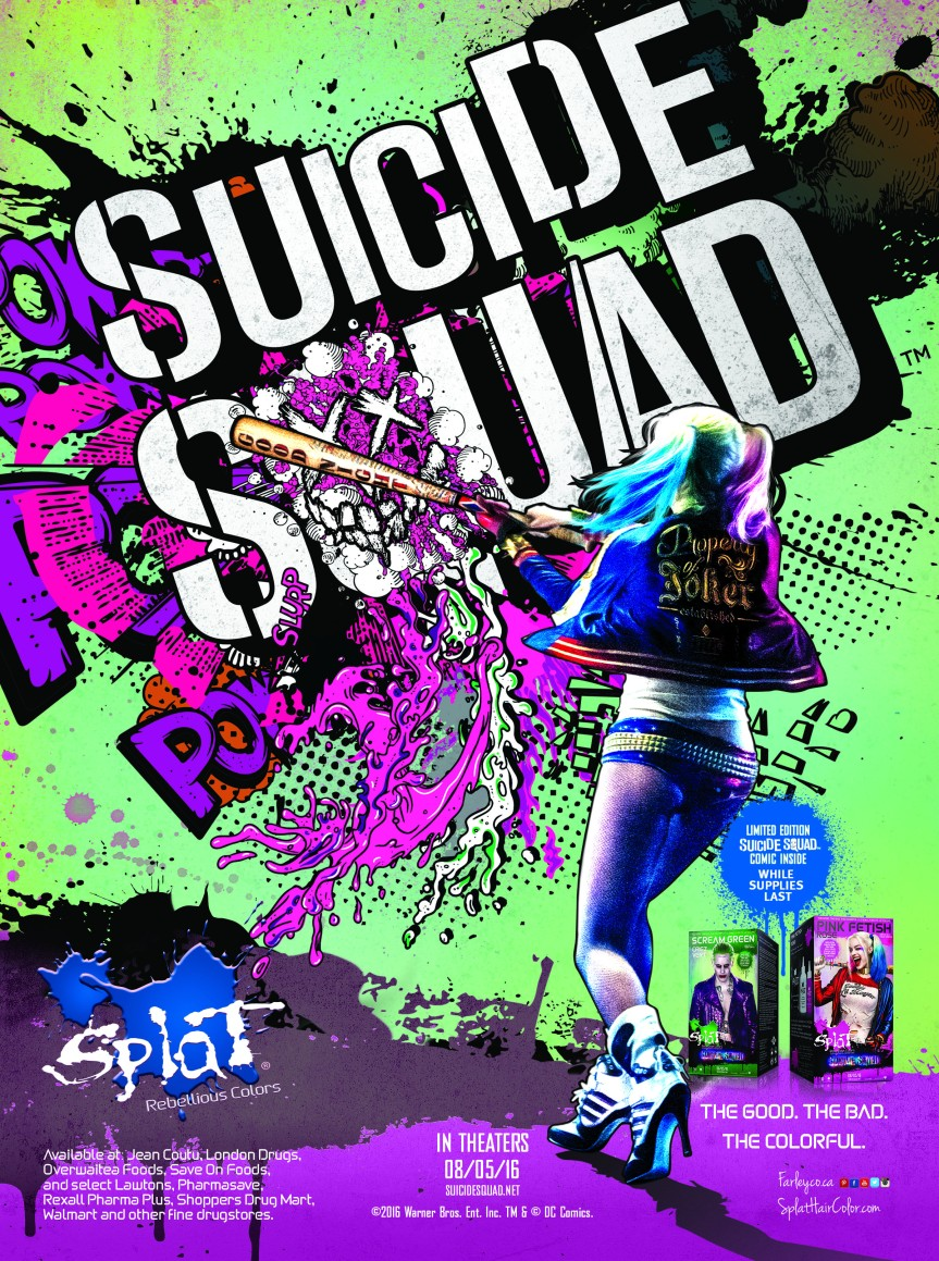 """""""Suicide Squad"""" Partners up with Splat!GIVEAWAY!"""