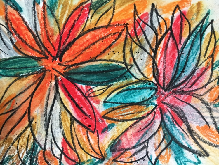 abstract flowers fall