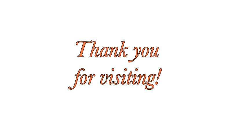 THank you for visiting blog end