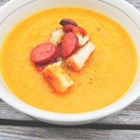 Roasted Garlic And Onion Butternut Squash Soup