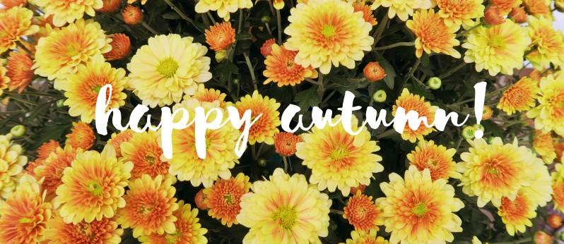happy autumn banner