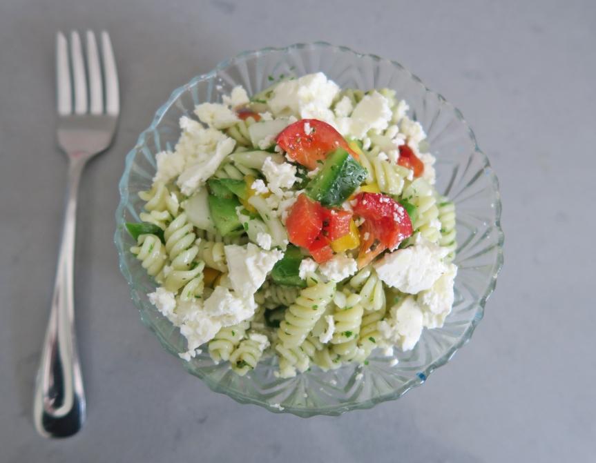 The Perfect Summer Fusilli Greek SaladRECIPE