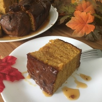 Pumpkin Cake With Butterscotch Drizzle RECIPE