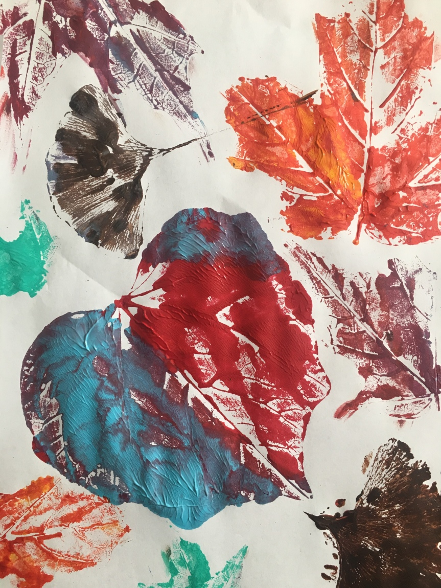 October Leaf Printing Paint PartyFriday