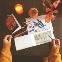 Paint Party Friday! Moleskine Art Book